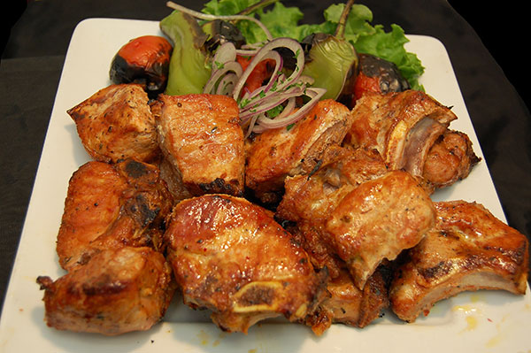 Pork Kebab: Marinated Pork Chops.